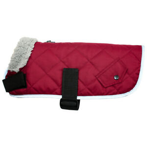 Go Walk Waterproof Quilted Padded Warm Fur Lined Comfort Dog Coat by Happy Pet