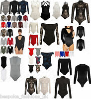 Women's Ladies Polo,Mesh,Lace Off Shoulder,Lurex,Velvet Bodysuit Leotard Top