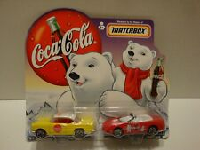 Matchbox Coca Cola 1955 Chevy Bel Air 1998 Camaro Converible Set 1:64 C22-83