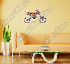 """Dirt Bike Motorcycle Colorful Abstract Wall Sticker Room Interior Decor 25""""X18"""""""