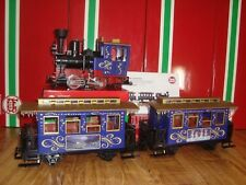 LGB 72305 BLUE 3 PIECE CHRISTMAS PASSENGER TRAIN SET NO BOX TRACK OR TRANSFORMER