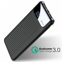 Power Bank Quick Charge 3.0 External Battery 10000mAh Dual USB LCD Powerbank