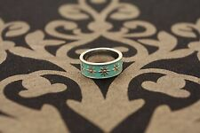 Tiffany & Co enamel and sterling silver ring