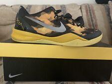 Nike Zoom Kobe 8 VIII Sulfur Electric Black Yellow Silver Sz 13 555035-001