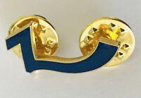 Blue Symbol Lapel Pin Badge Brooch Vintage (C14)