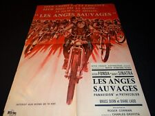 LES ANGES SAUVAGES roger corman  affiche cinema motos harley 1966