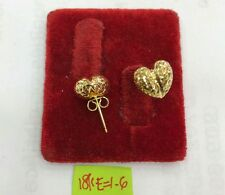 Gold Authentic 18k saudi gold heart earrings