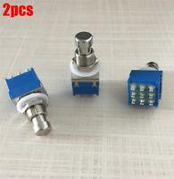 2Pcs Switch True Bypass 9-Pin 3Pdt Guitar Effects Pedal Box Stomp Foot Metal li