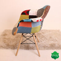 Mila TUB Eiffel Dining Armchair Patchwork Chair Retro Vintage Scandinavian Style