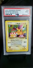 2001 Pokemon Birthday Pikachu Black Star Promo psa 9