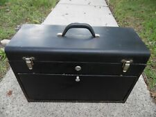 "Vintage 20"" Machinist Metal Tool Box Chest 7 Drawers 8 Compartment USA Made"