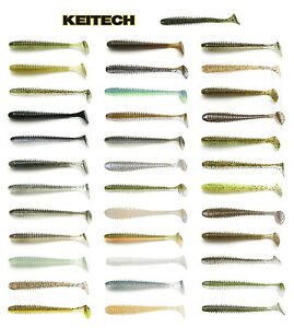 "Keitech Swing Impact Paddle Tail Swimbait 3.5"" (8.9 Cm) 8 Pack Keitech Lures"