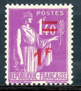STAMP / TIMBRE DE FRANCE NEUF N° 484 ** TYPE PAIX SURCHARGEE