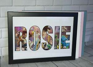 Personalised Name WordArt Gift Keepsake Birthday xmas Present Framed -Toy Story