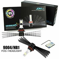 JDM ASTAR 6S 8000LM LED Headlight Kit HB1 9004 High/Low Beams 6500K White Bulbs