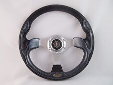 1984 & UP CLUB CAR DS Carbon Fiber steering wheel golf cart W/ Adapter 3 spoke