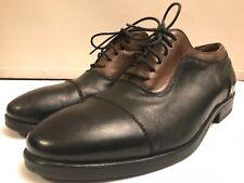 Mr B's Vero Cuoio Aldo 2 Tone Black Brown Leather Cap Toe Dress Shoes Sz 9.5