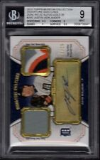 2012 Justin Verlander Topps Museum Collection Dual Relic Autos Gold /25 BGS MT 9