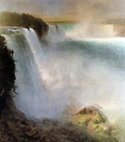 Frederick Edwin Church Niagara Falls from American Side Art CANVAS Print Small