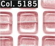 Gütermann Square beads 8 mm approx. 20 Pieces Colour 5185 pink