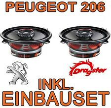 Peugeot 206 + sw cc   HECK LAUTSPRECHER BOXEN SET DRAGSTER KOAXE  NEUWARE
