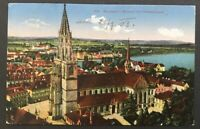 AK Infla Konstanz Münster m. Petershausen - gelaufen Lindau 22.7.1923