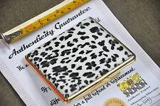 Cigarette Case Holder Tobacco Box Metal Simulated Leopard Skin 24K Gold Plated