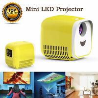 MINI LED Laser Projektor Beamer Cinema Heimkino HD 1080p USB HDMI EU/UK-Stecker