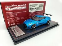 1:64 Ignition Nissan Skyline GT-R R35 PANDEM Blue Metallic JDM IG1747 Japan LE