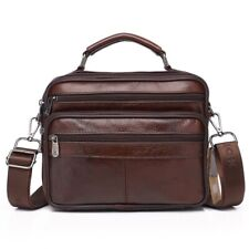 Herren Schulter Leder Handtasche Reise Business Einfach Mode Zipper Kuriertasche