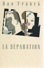 DAN FRANCK La Séparation +  PARIS POSTER GUIDE
