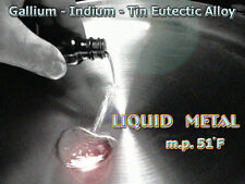 Gallinstan Alloy mp 51°F/10°C Liquid@Room Temp / 10 gm+ alternative to Hg alloy