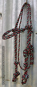 PROFESSIONALLY MADE KNOTTED ROPE BRIDLE HEADS 35 COLOURS TO CHOOSE FROM