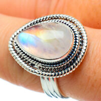 Rainbow Moonstone 925 Sterling Silver Ring Size 8.25 Ana Co Jewelry R33815F