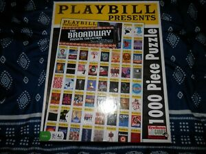 Playbill Presents The Broadway Musical Collection 1000 Piece Jigsaw 2012