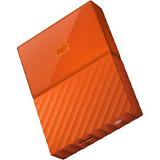 Western Digital My Passport 4TB External Hard Drive, Orange WDBYFT0040BOR-WESN