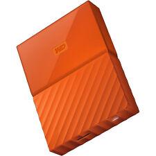 Western Digital My Passport 4TB External Hard Drive, Orange WDBYFT0040BOR-WESN