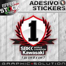 Adesivo / Sticker KAWASAKI RACING SBK WORLD CHAMPION ZX10R ZX6R Z 750 REA SYKES