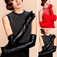 Sexy Women Wet Look Faux Leather Gloves Opera Prom Elbow Long Latex Gloves New