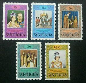 [SJ] Antigua 25th Anniversary Coronation 1978 Queen Elizabeth II Royal stamp MNH