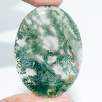 Cts. 73.90 Natural Moss Agate Cabochon Oval Shape Cab Gemstones