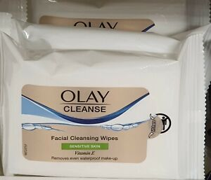 X3 Olay Facial wipes for Sensitive skin. 20 Face Wipes in each (Pack of 3)