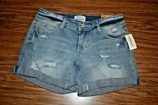 NWT $44 AEROPOSTALE Women's DISTRESSED Cut-Off Cotton Denim Jean Shorts Size 0