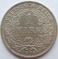 TOP! 1 Mark 1878 F in VORZÜGLICH+++ !!!