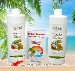 Fake Shampoo Conditioner Hidden Flask Alcohol Liquor Rum Runners For Cruise Kit