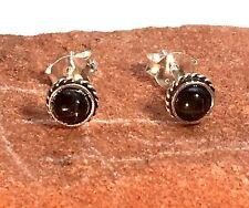 US Seller Pair Of Sterling Silver Beautiful 5mm Star Stone Stud Earrings