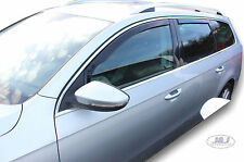 Wind deflector for VW Passat VARIANT B6 /B7 ESTATE 2005-2015 TINTED HEKO 4pc set