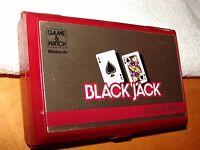 NINTENDO GAME & WATCH 1985 BLACK JACK BJ-60 MULTI SCREEN NICE COND MADE N JAPAN