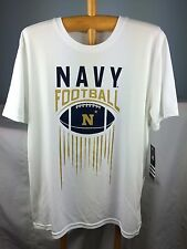 New $20 Boys L 14/16 Adidas Navy Football Shirt Workout Gym Cool Army White Kids