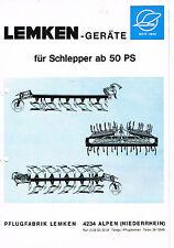 Lemken- Geräte für Schlepper ab 50 PS, orig. Prospekt 1966